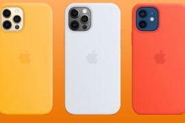 iPhone 12 Silikon Case in neuen Farben Sonnenblume, Wolkenblau, Leuchtorange 2021