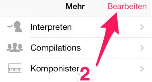 Musik App anpassen Schritt 2