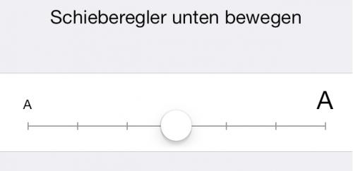 Schriftgroesse iOS 7 Apps