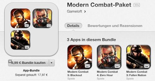 Modern Combat Paket