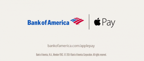 Bank of America Apple Pay Werbung