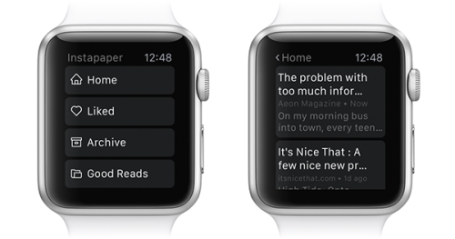 Instapaper Apple Watch