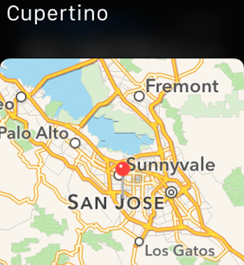 Maps Watch Cupertino