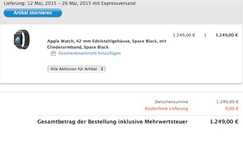 Space Black Lieferung Hannes