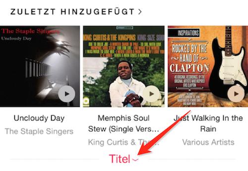 Apple Music offline Schalter