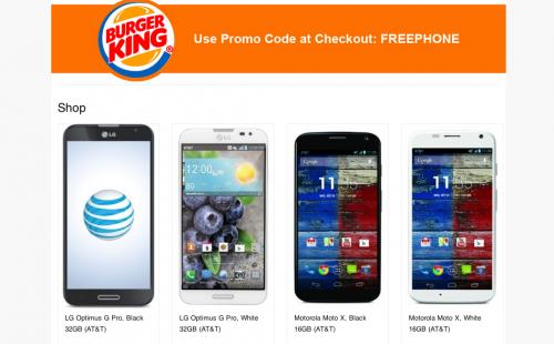Burgerking gratis smartphone