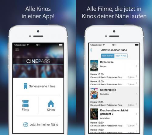 Cinepass screen