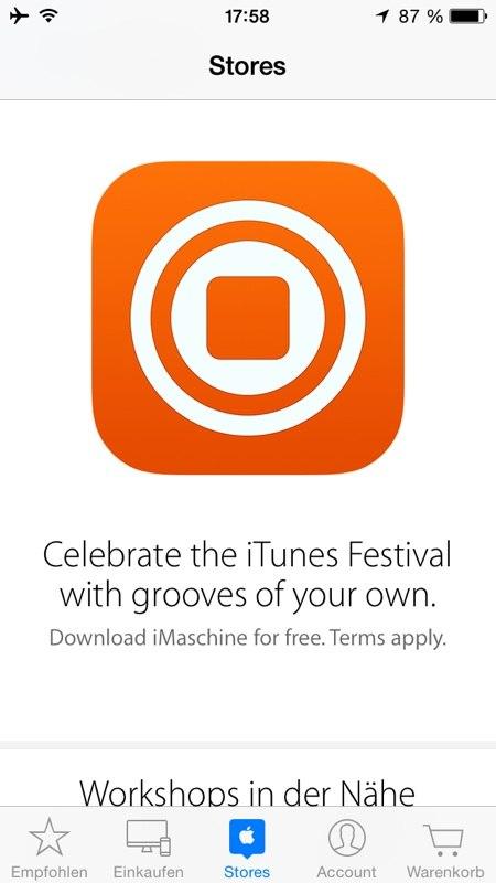 iMaschine Apple Store