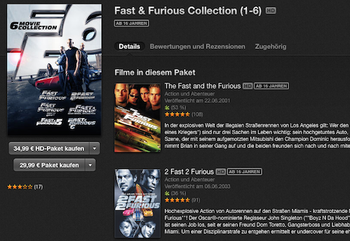 Fast and Furious Bundle