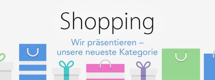 Shopping Kategorie App Store
