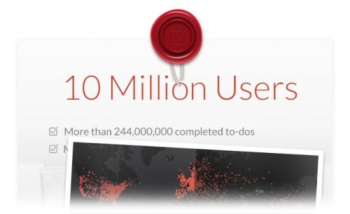 Wunderlist 10 Millionen Nutzer
