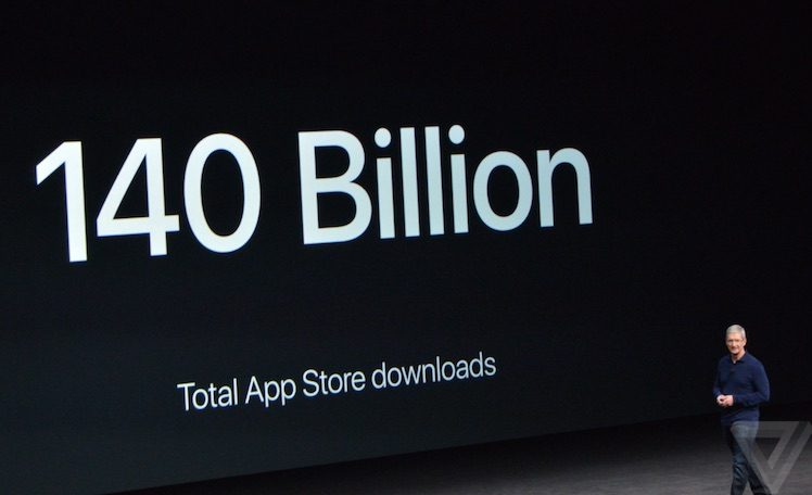 140 Milliarden Downloads App Store