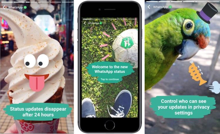 Whatsapp kann jetzt auch Snapchat