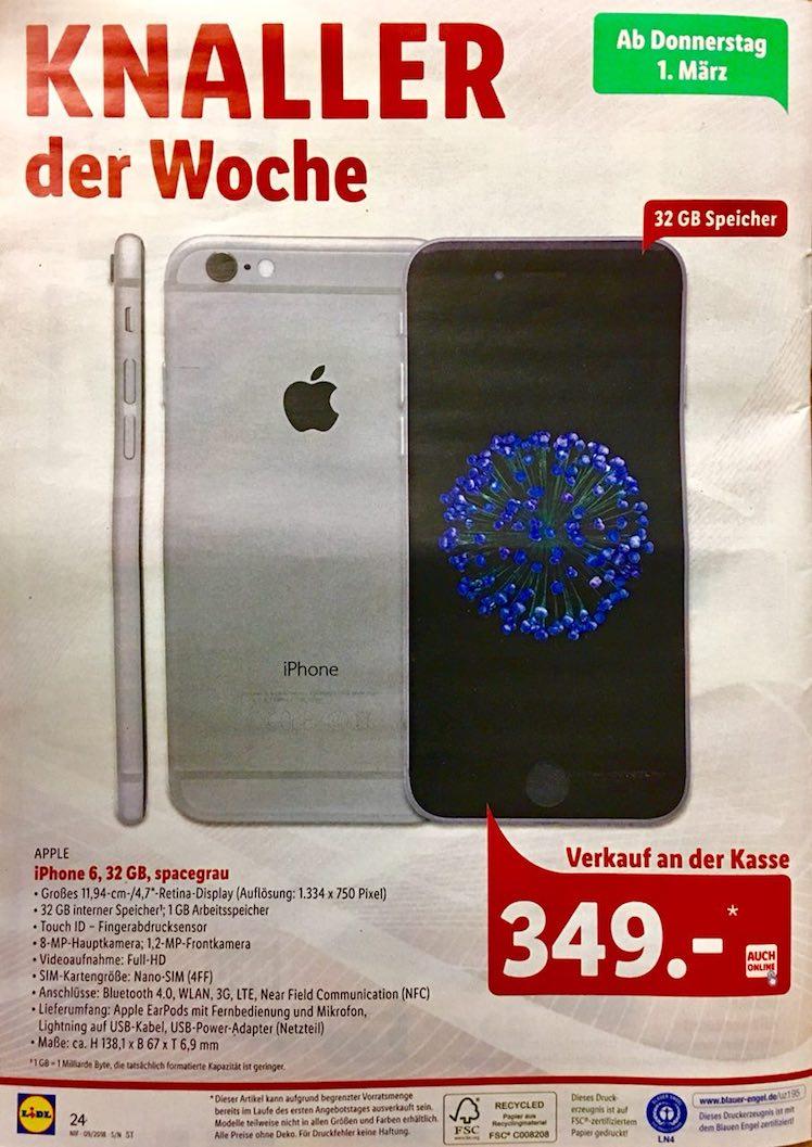 Schon Mal Vormerken Lidl Verkauft Iphone 6 Nächste Woche Zum