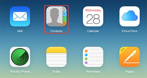 iCloud Kontakte