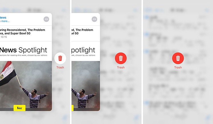 3D Touch / Mail