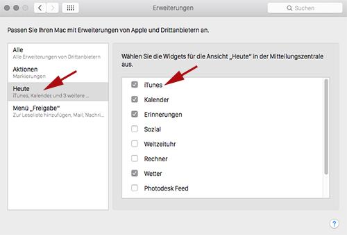 iTunes-Widget