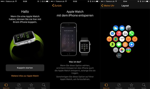 Apple Watch - Menüs