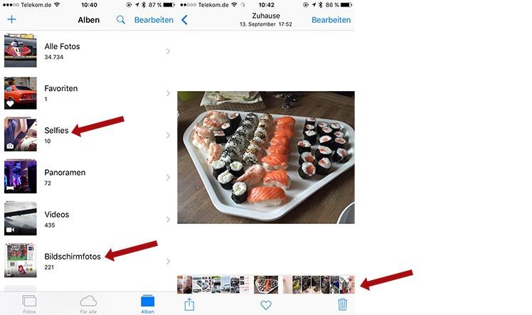 Foto-App iOS 9