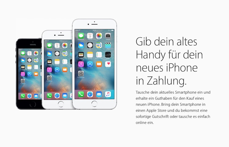 Altes Iphone In Zahlung Geben Apple